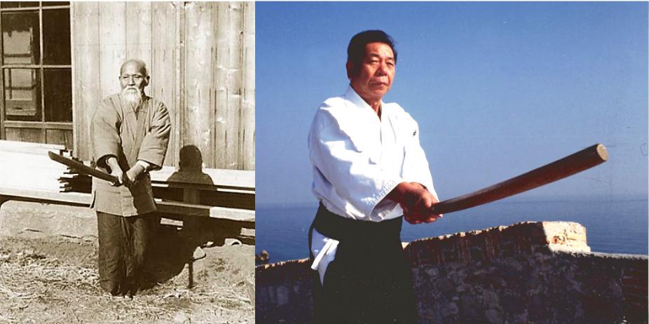 O Sensei et Saito Sensei en garde chudan no kamae